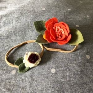 {BABY} [bundle of 2] Felt Floral Handmade headband